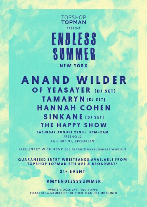 Endless Summer NY Flyer - 22nd Aug - Clickable URL copy 2