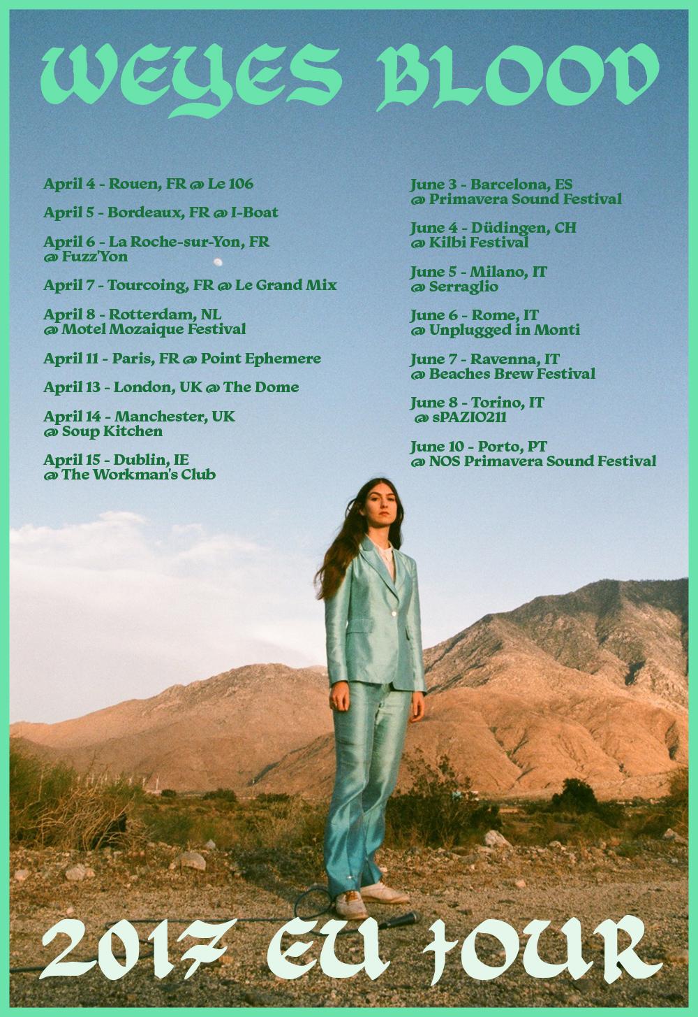 weyes blood EU tour dates