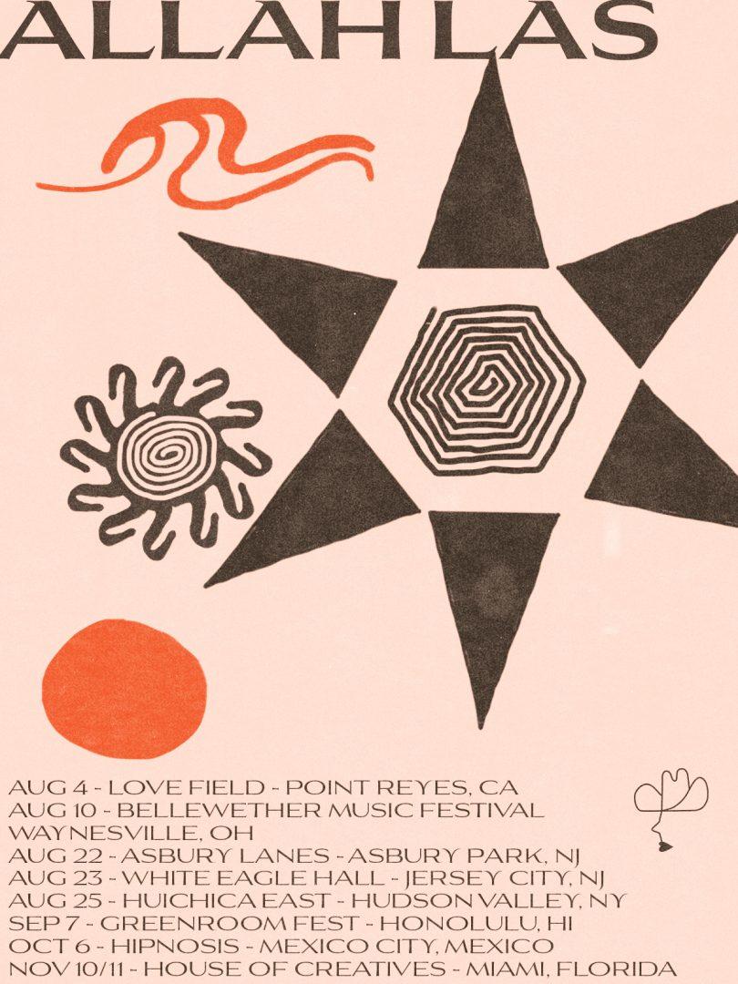 Allah-Las - Summer 2018 Tour Poster