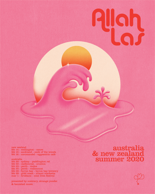 Allah Las Robert Beatty Tour Poster