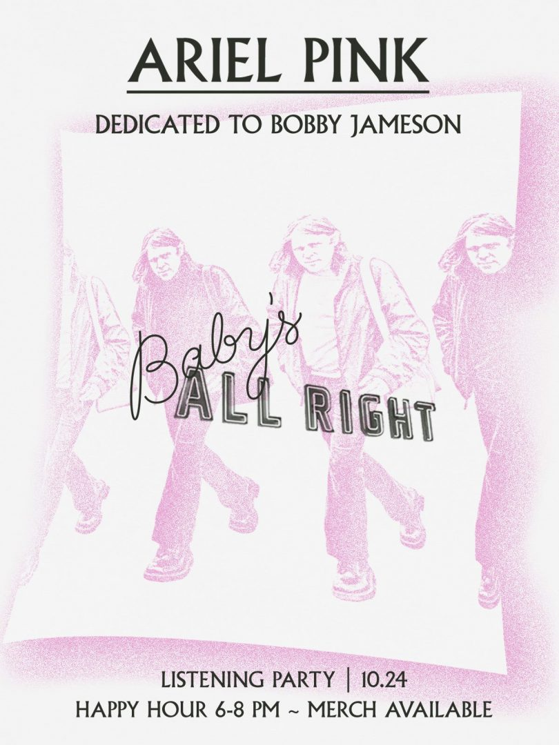 Ariel Pink - Dedicated To Bobby Jameson @ Baby's All Right
