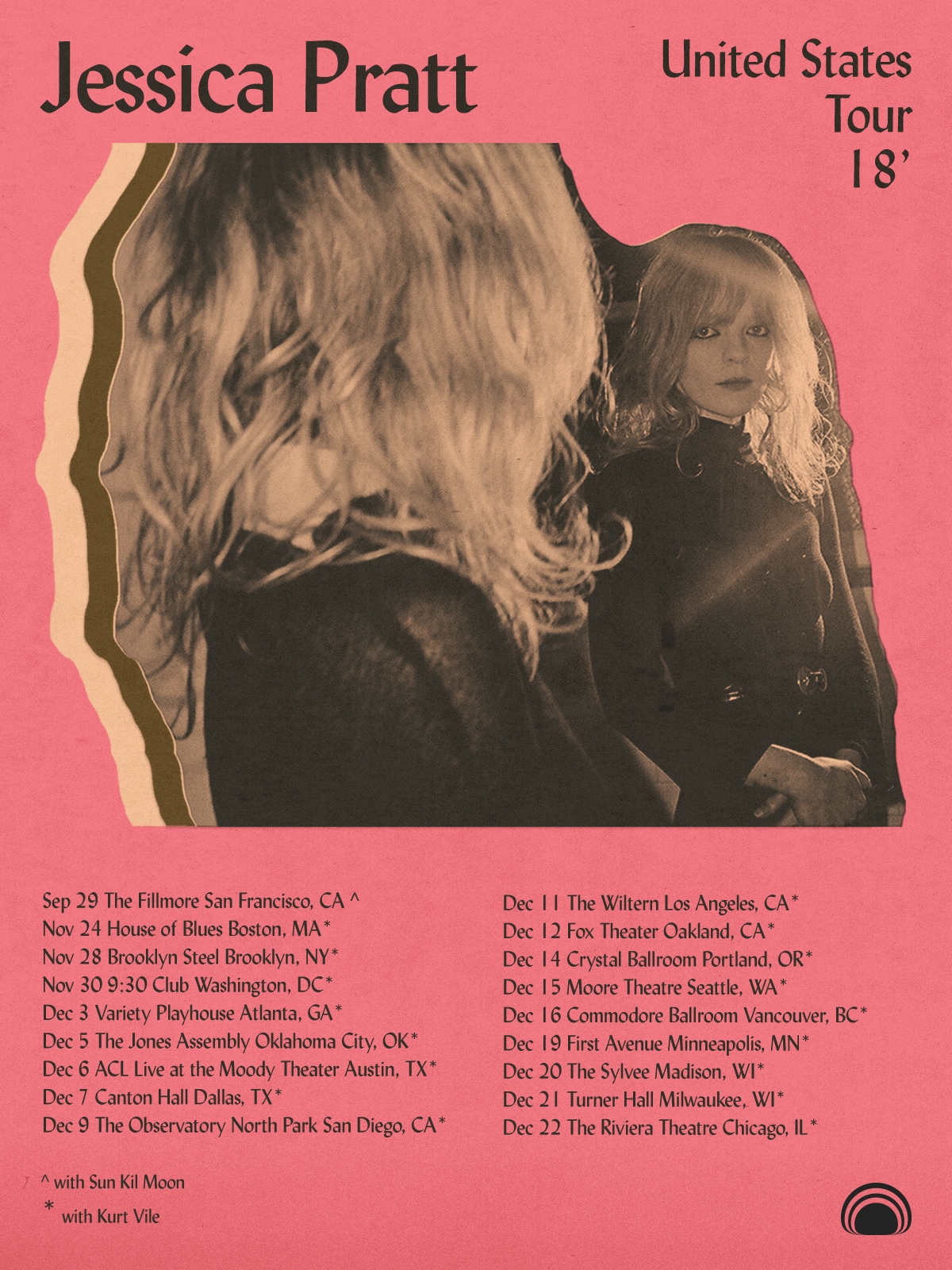 Jessica Pratt - 2018 US Winter Tour Poster