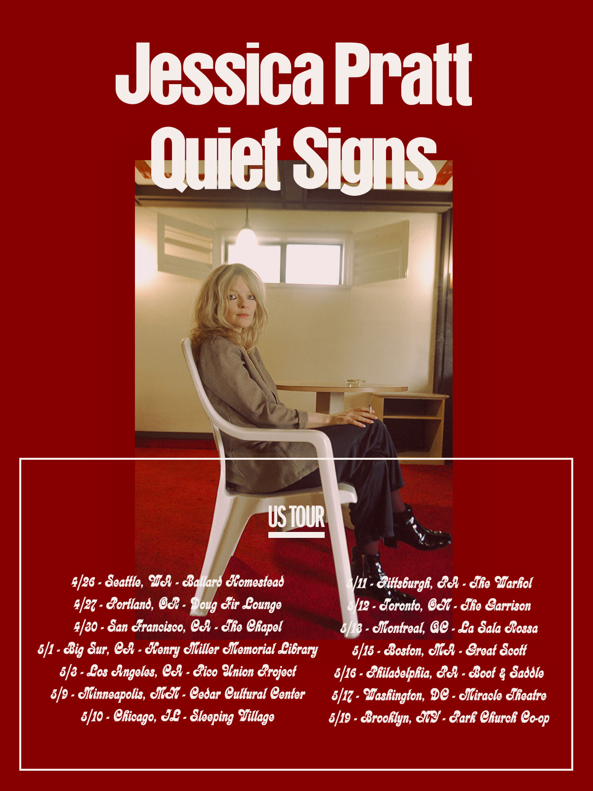 Jessica Pratt Tour Poster