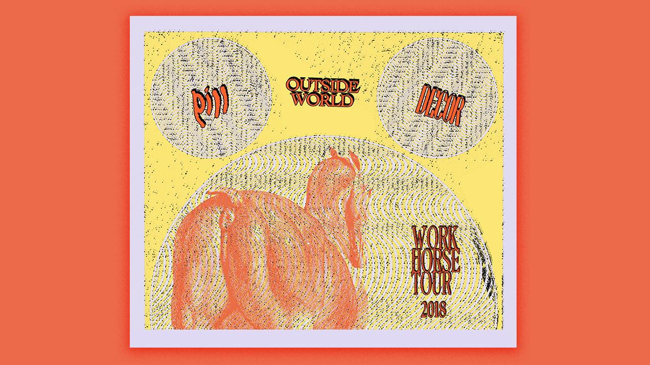 Pill - Work Horse Tour - Summer 2018 - Flyer